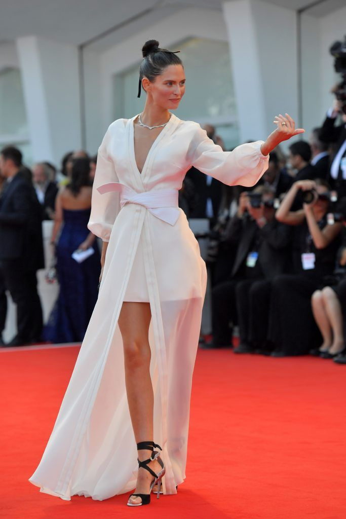 "Italian model Bianca Balti arrives for the opening ceremony of the 74th Venice Film Festival and the premiere of the movie ""Downsizing"", on August 30, 2017 at Venice Lido. (Photo by TIZIANA FABI/AFP/Getty Images)"