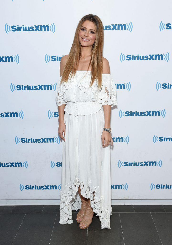 Maria Menounos visits SiriusXM at the SiriusXM Studios on August 30, 2017 in New York City.  (Photo by Jamie McCarthy/Getty Images)