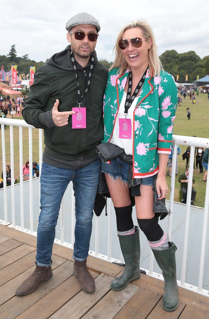 Keith Walsh and Tracy Clifford at the #3Disco area at the sold-out three-day festival Electric Picnic at Stradbally, Co. Laois. Picture: Brian McEvoy