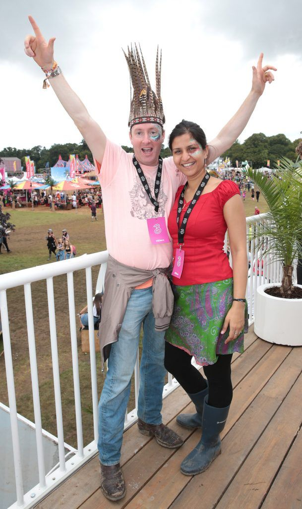 Marcus Jordan and Richa Pathak at the #3Disco area at the sold-out three-day festival Electric Picnic at Stradbally, Co. Laois. Picture: Brian McEvoy