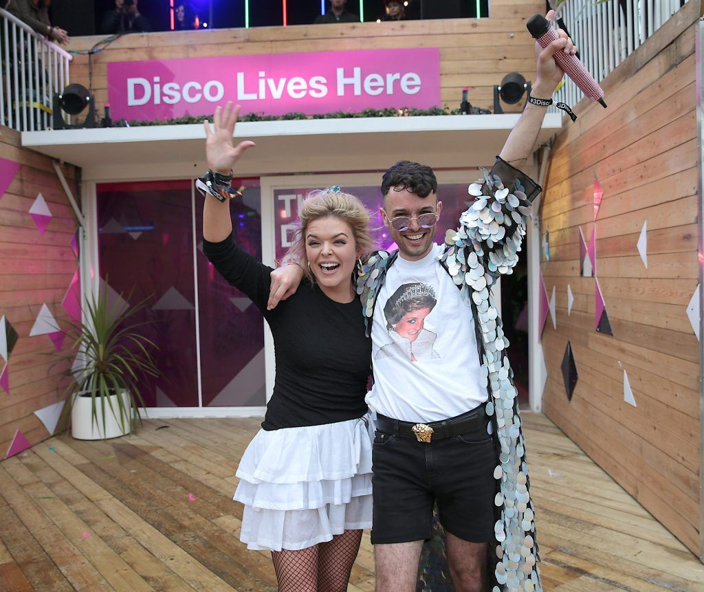 Internet sensations James Kavanagh and Doireann Garrihy as they took part in the Ultimate #3disco Lip-sync Showdown at the #3Disco area at the sold-out three-day festival Electric Picnic at Stradbally, Co. Laois. Picture: Brian McEvoy