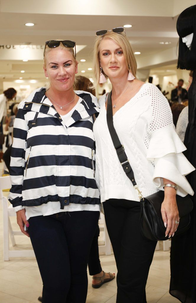 Suzanne Tennant and Michelle Hearn at the Pippa O'Connor 'Step into Style' event in the newly opened Arnotts Shoe Gallery. Picture: Conor McCabe Photography.