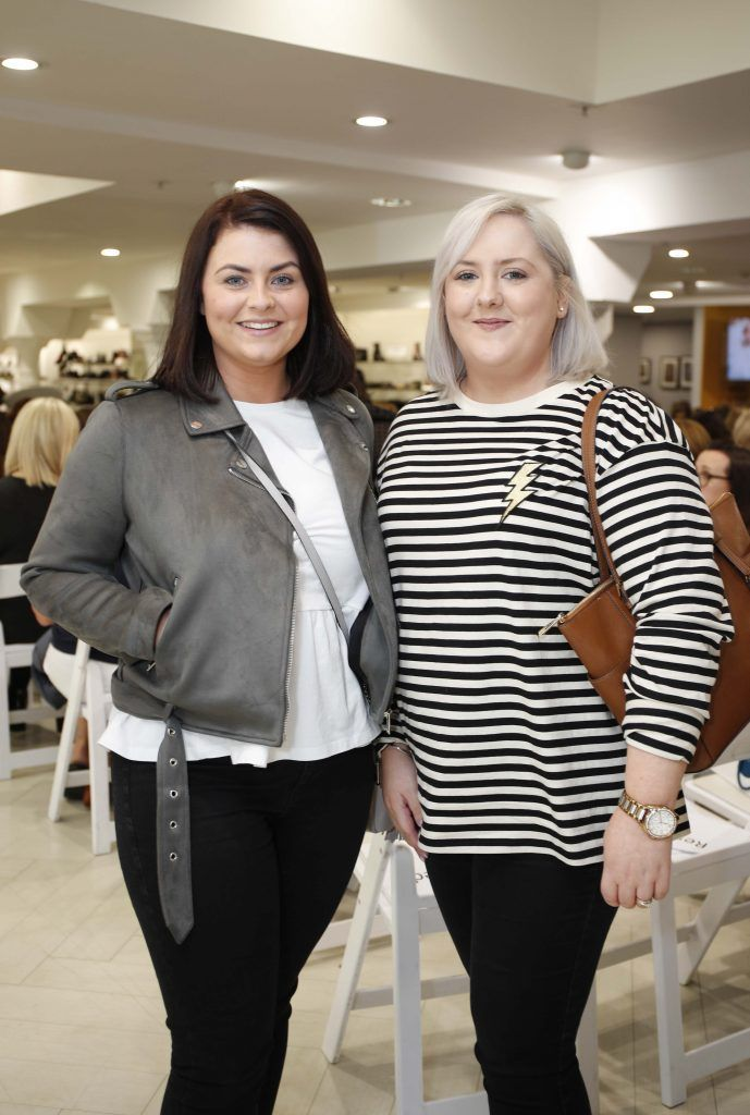 Daniika Lynch and Emma McGinn at the Pippa O'Connor 'Step into Style' event in the newly opened Arnotts Shoe Gallery. Picture: Conor McCabe Photography.