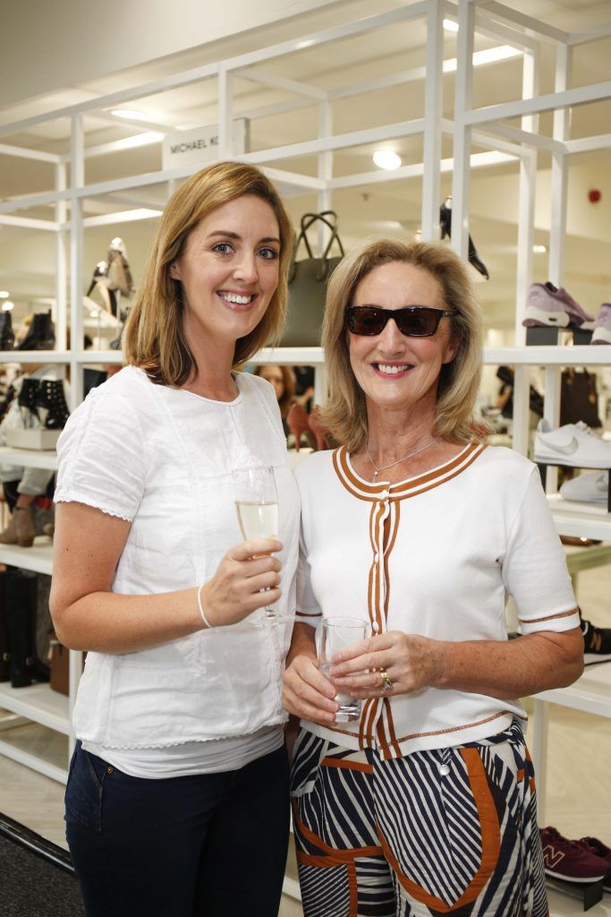 Patricia and Suzanne Morris at the Pippa O'Connor 'Step into Style' event in the newly opened Arnotts Shoe Gallery. Picture: Conor McCabe Photography.