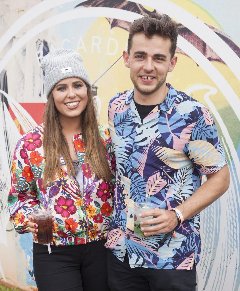Pictured are Caoimhe O'Riordan and Stephen Gallagher enjoying Stradbally's ultimate party at Casa Bacardi 2017. Bacardi rum returned to a sold out Electric Picnic, boasting a stellar line-up of international DJ's as well as top home grown Irish talent. Picture: Kinlan Photography.