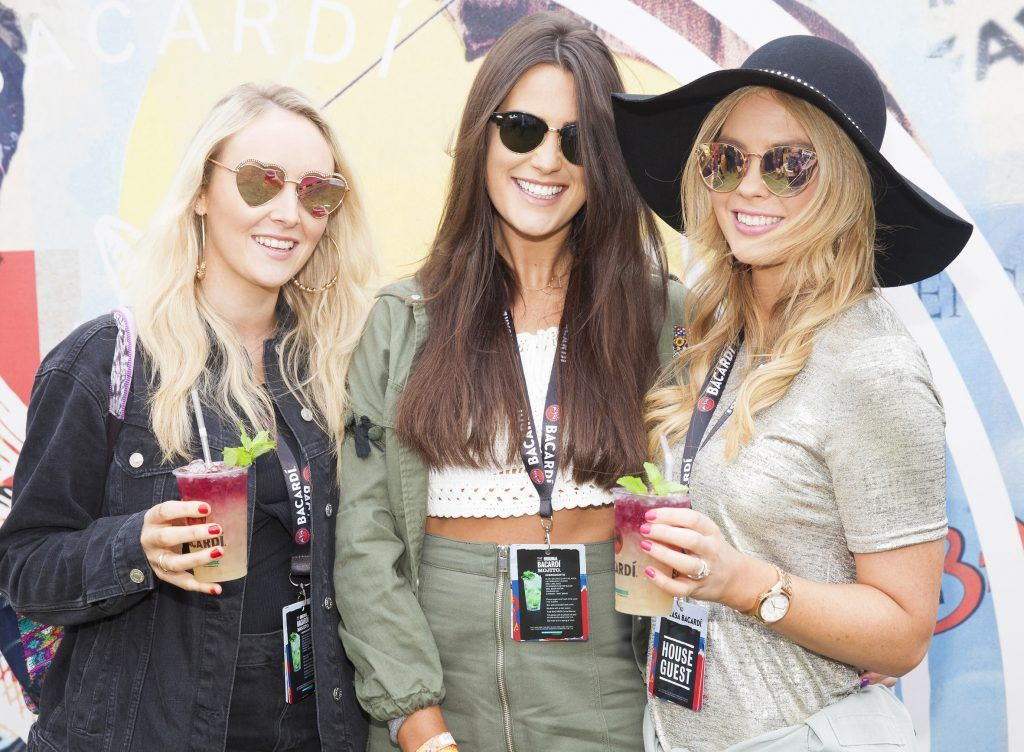 Pictured are Rosie Coomey, Saoirse McCrann and Fiona Creely enjoying Stradbally's ultimate party at Casa Bacardi 2017. Bacardi rum returned to a sold out Electric Picnic, boasting a stellar line-up of international DJ's as well as top home grown Irish talent. Picture: Kinlan Photography.