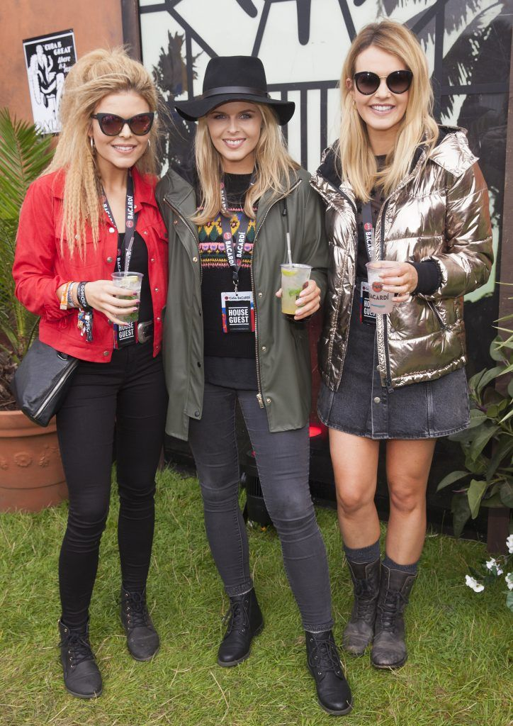 Pictured are Doireann, Ailbhe and Aoibhin Garrihy enjoying Stradbally's ultimate party at Casa Bacardi 2017. Bacardi rum returned to a sold out Electric Picnic, boasting a stellar line-up of international DJ's as well as top home grown Irish talent. Picture: Kinlan Photography.