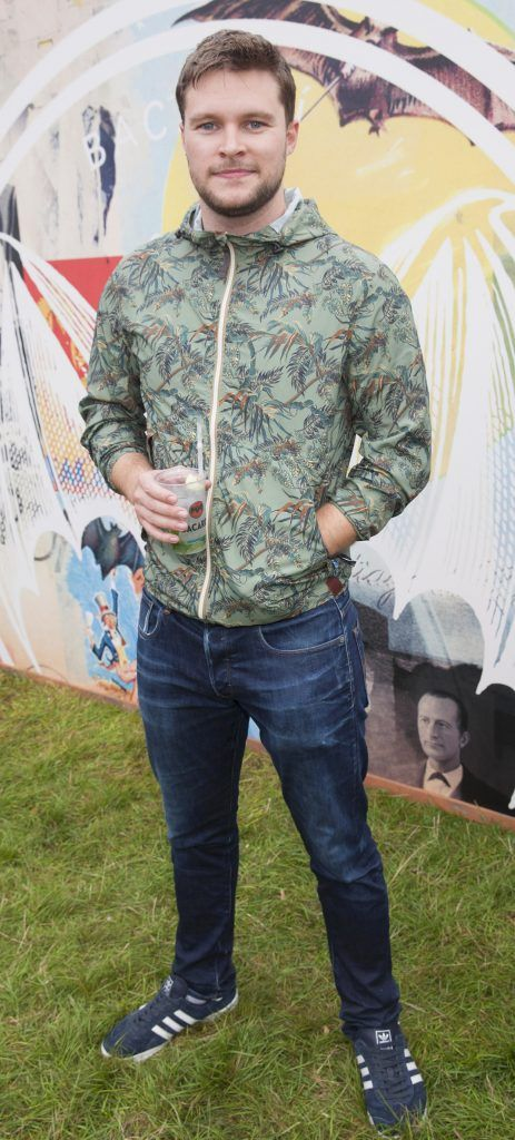 Pictured is Jack Reynor enjoying Stradbally's ultimate party at Casa Bacardi 2017. Bacardi rum returned to a sold out Electric Picnic, boasting a stellar line-up of international DJ's as well as top home grown Irish talent. Picture: Kinlan Photography.