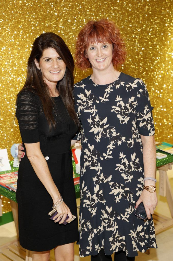 Ali Poland and Jenny Erwin  pictured at the Arnotts Christmas Gifts Preview. Photo by Kieran Harnett