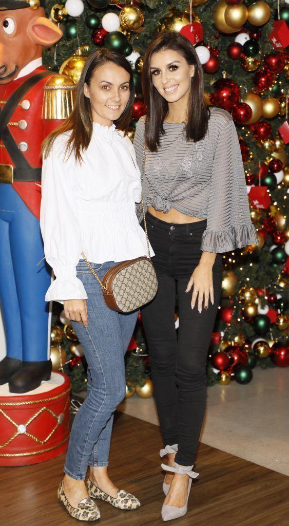 Ciara Kilgallon and Terri McEvoy  pictured at the Arnotts Christmas Gifts Preview. Photo by Kieran Harnett