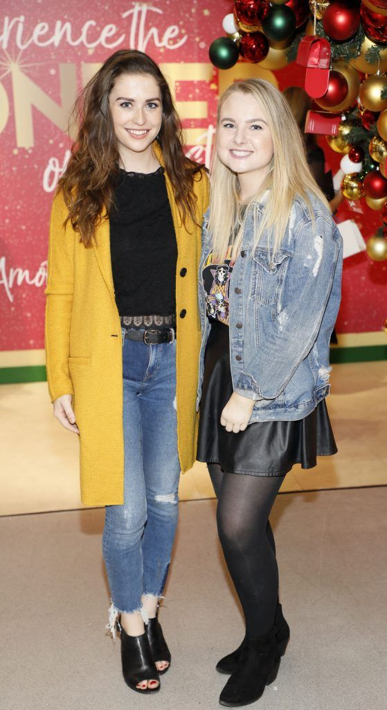 Niamh Devereux and Victoria Stokes  pictured at the Arnotts Christmas Gifts Preview. Photo by Kieran Harnett
