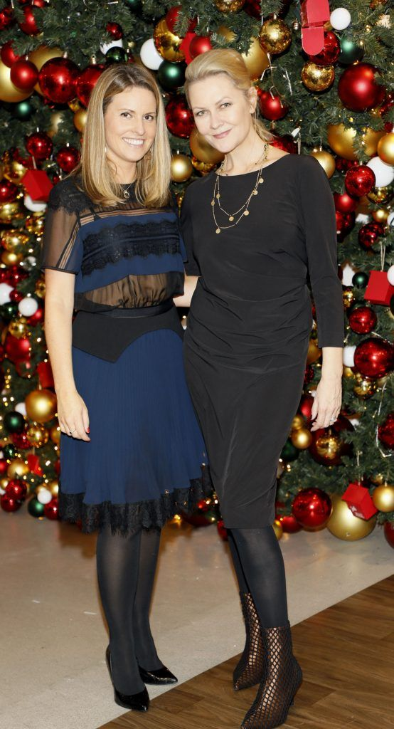 Sarah Williams and Laura Birmingham  pictured at the Arnotts Christmas Gifts Preview. Photo by Kieran Harnett