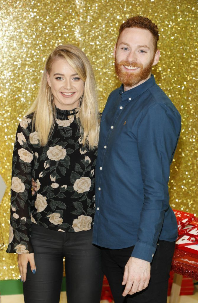 Sheana Baker Casey and Adam Brannigan  pictured at the Arnotts Christmas Gifts Preview. Photo by Kieran Harnett