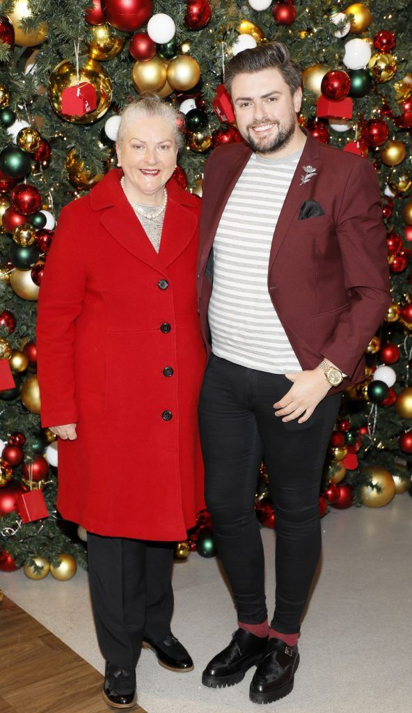 Veronica and James Patrice  pictured at the Arnotts Christmas Gifts Preview. Photo by Kieran Harnett