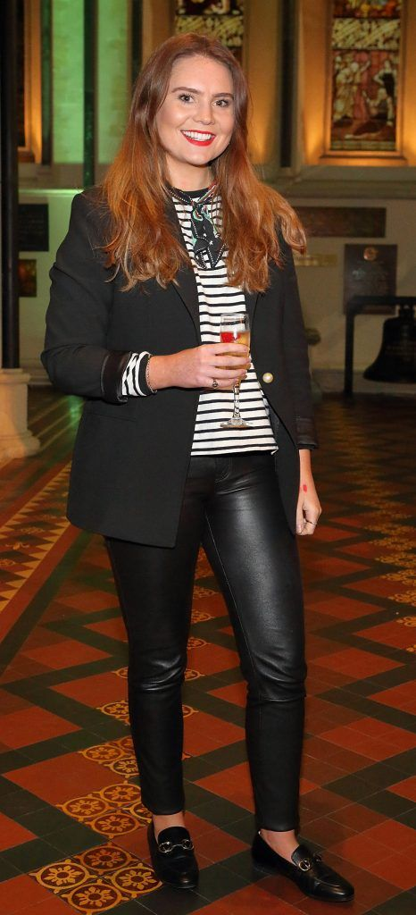 Amy Heffernan at the launch of Urban Decay's Troublemaker Mascara at St. Patrick's Cathedral, Dublin. Photo by Brian McEvoy Photography