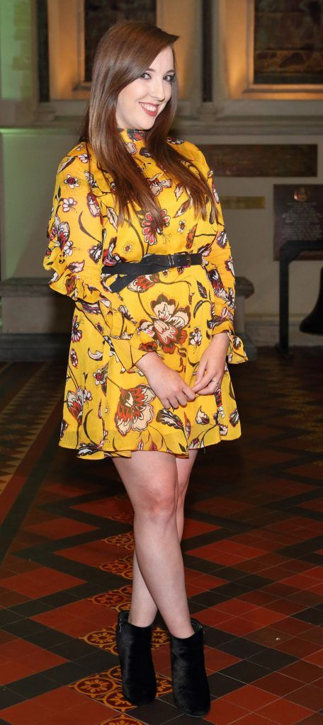 Erin Healy at the launch of Urban Decay's Troublemaker Mascara at St. Patrick's Cathedral, Dublin. Photo by Brian McEvoy Photography