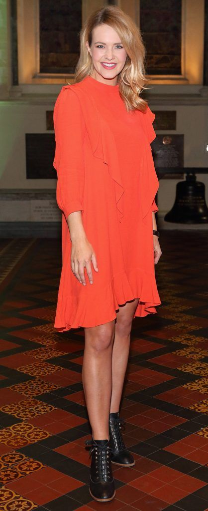 Aoibhin Garrihy at the launch of Urban Decay's Troublemaker Mascara at St. Patrick's Cathedral, Dublin. Photo by Brian McEvoy Photography