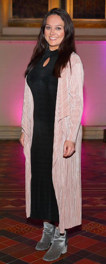 Aisling Kelly at the launch of Urban Decay's Troublemaker Mascara at St. Patrick's Cathedral, Dublin. Photo by Brian McEvoy Photography