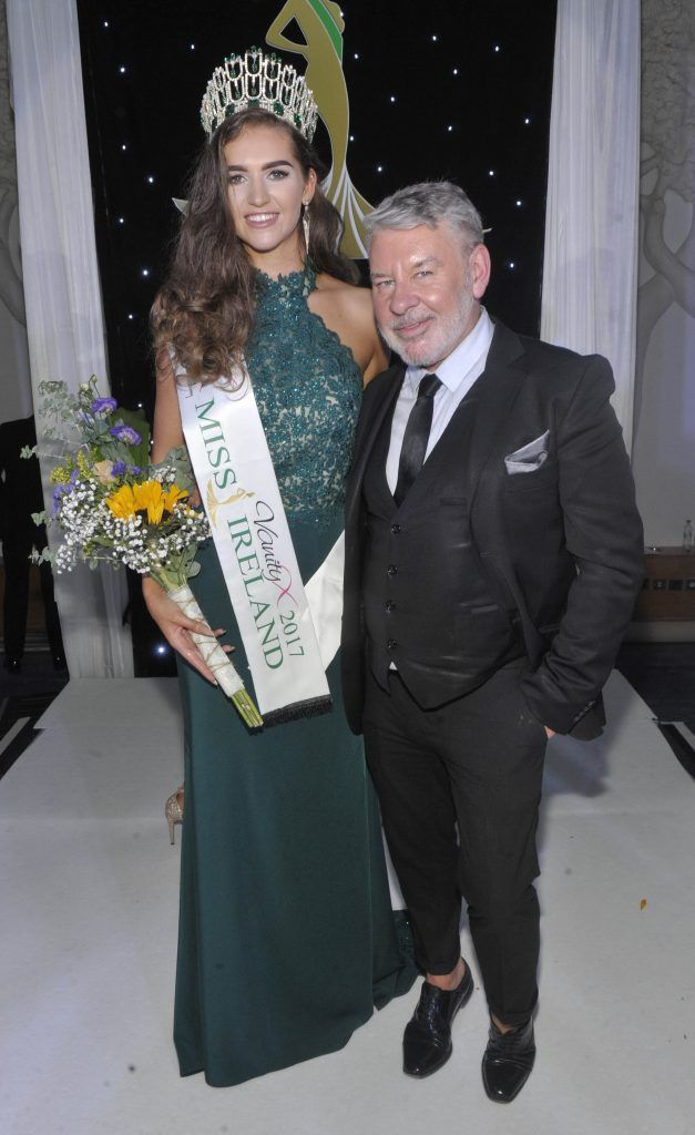 Pictured is Miss Ireland 2017 Lauren McDonagh and Judge Michael Doyle. Photo by Patrick O'Leary