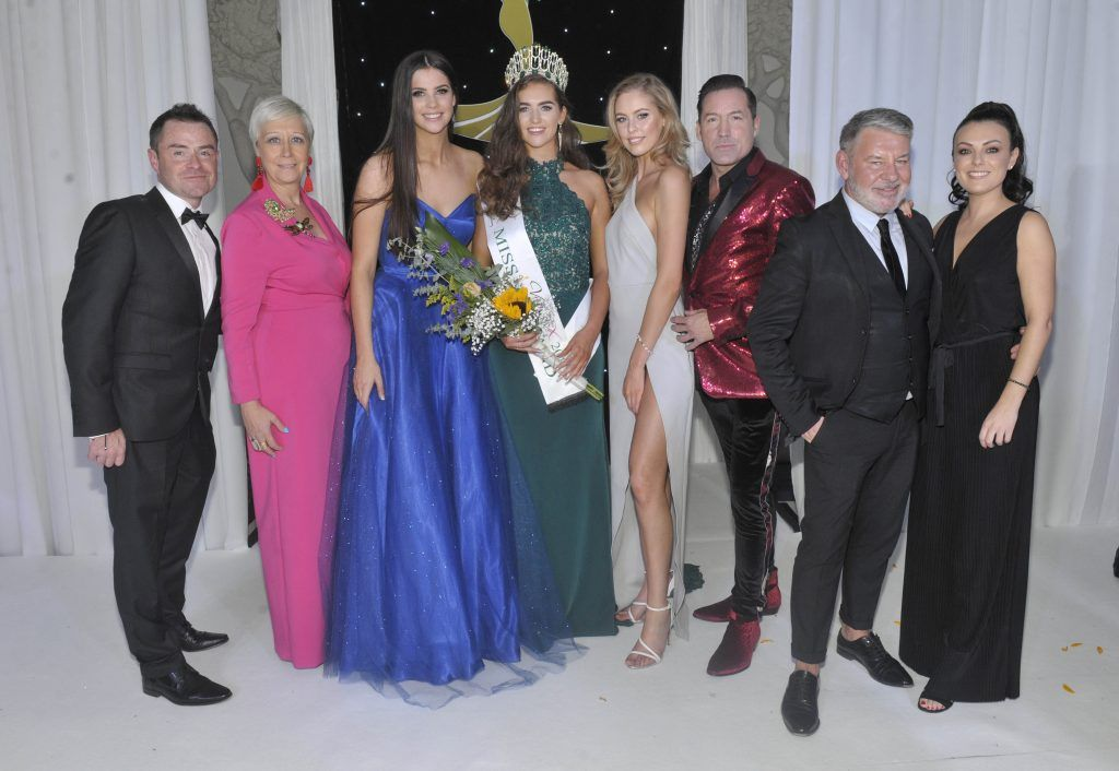 Pictured from left to right: Sean Montague, Sonja Mohlich, Miss Ireland 2016 Niamh Kennedy, Miss Ireland 2017 Lauren McDonagh, Miss Ireland 2015 Sasha Livingstone, Julian Benson, Michael Doyle and Debbie McGuillan. Photo by Patrick O'Leary