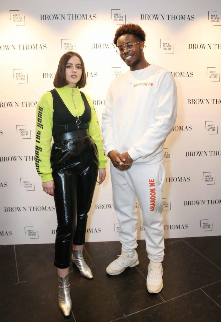 Fortune Lago and Robin McGonigle at the launch of the new issue of MFI Magazine at Brown Thomas, 28th September 2017. Photo: Sasko Lazarov/Photocall Ireland