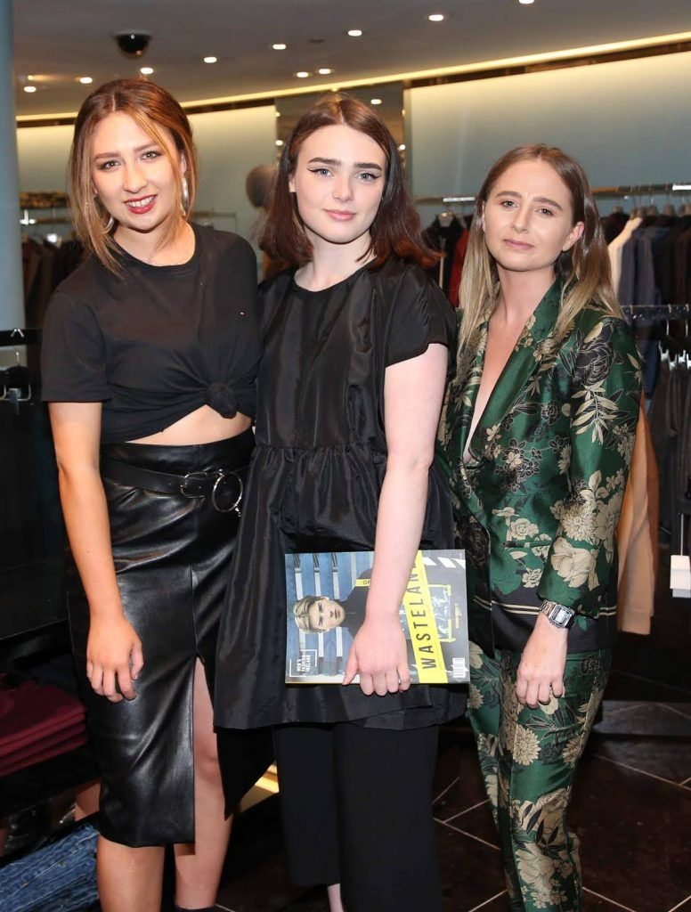Ellen Duffy, Kate Corcoran and Claire Kiely at the launch of the new issue of MFI Magazine at Brown Thomas, 28th September 2017. Photo: Sasko Lazarov/Photocall Ireland