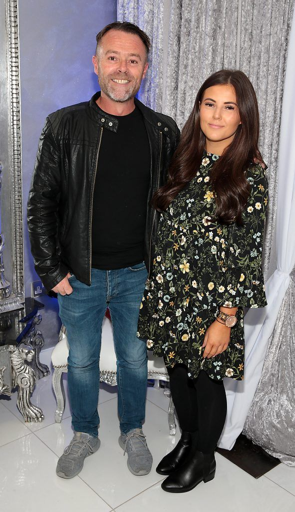 Eric Lalor and Jodi Maher  at the launch of Beautique Beauty Studio in Fashion City, Ballymount, Dublin. Picture: Brian McEvoy