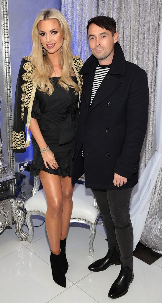 Rosanna Davison and Keith Cullen at the launch of Beautique Beauty Studio in Fashion City, Ballymount, Dublin. Picture: Brian McEvoy