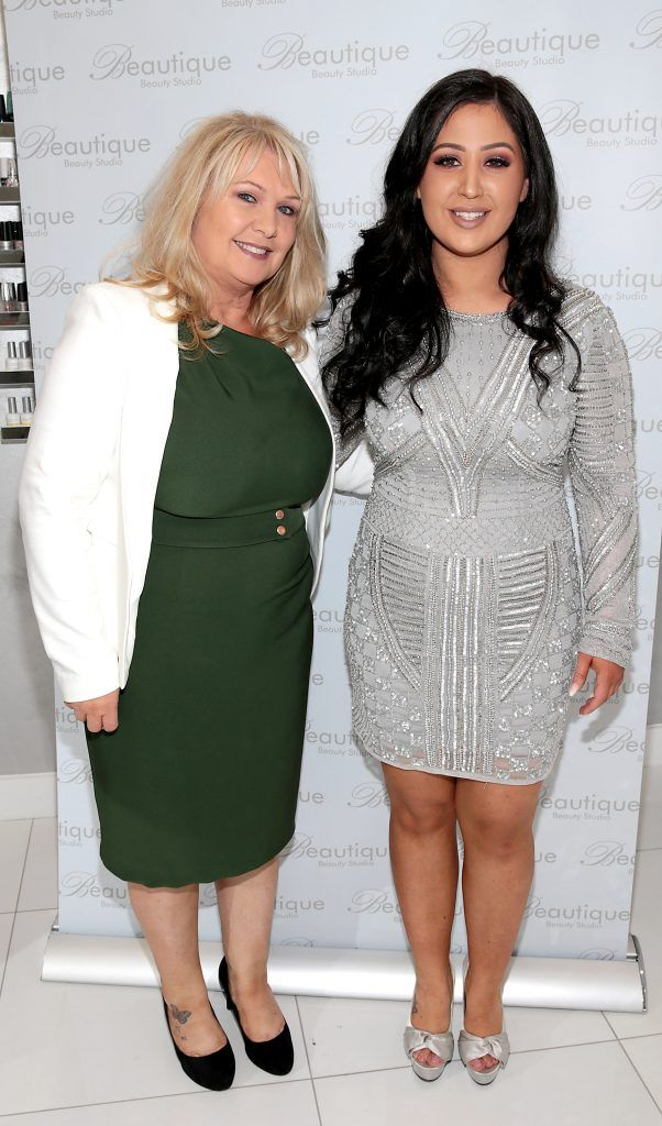 Marie Kerslake and Michelle Kerslake at the launch of Beautique Beauty Studio in Fashion City, Ballymount, Dublin. Picture: Brian McEvoy