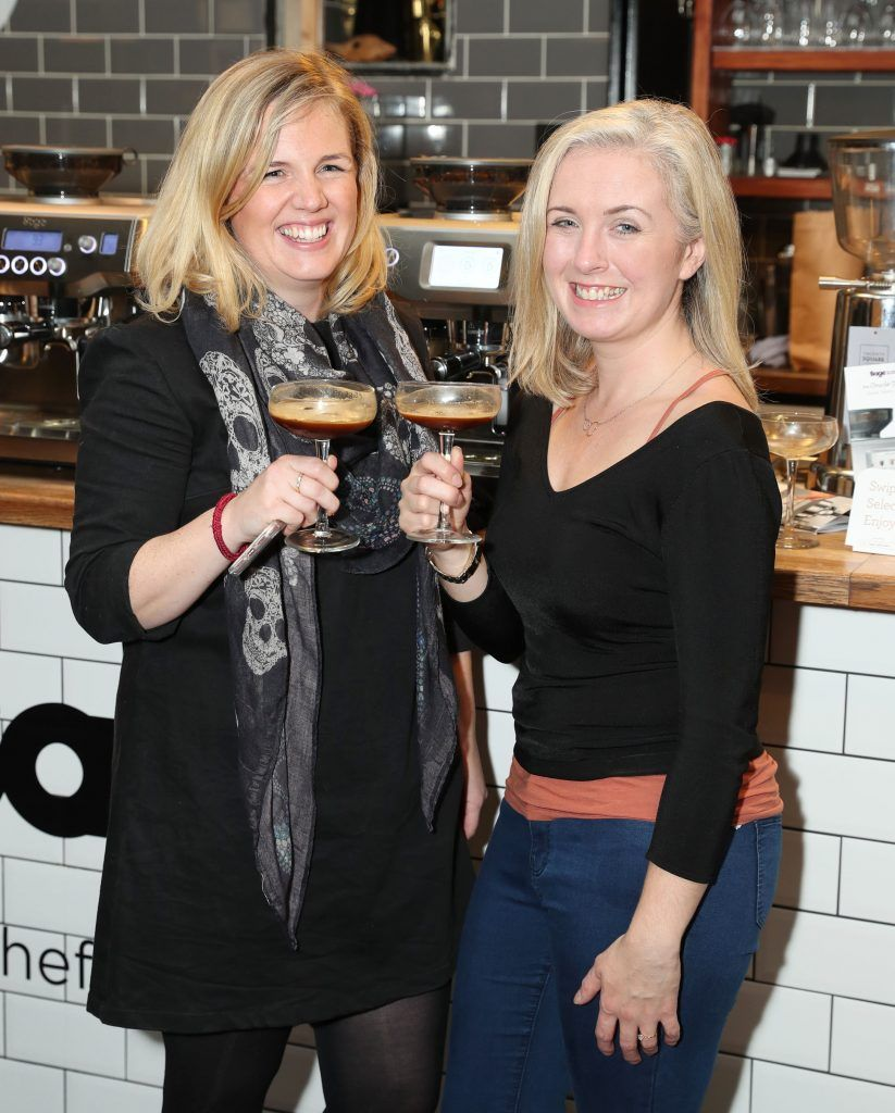 Lynn Kerin and Claire Murphy pictured at the official Sage Appliances Launch Event in Ireland which took place in Two Fitfty Square, Rathmines (4th October 2017). Pic: Marc O'Sullivan