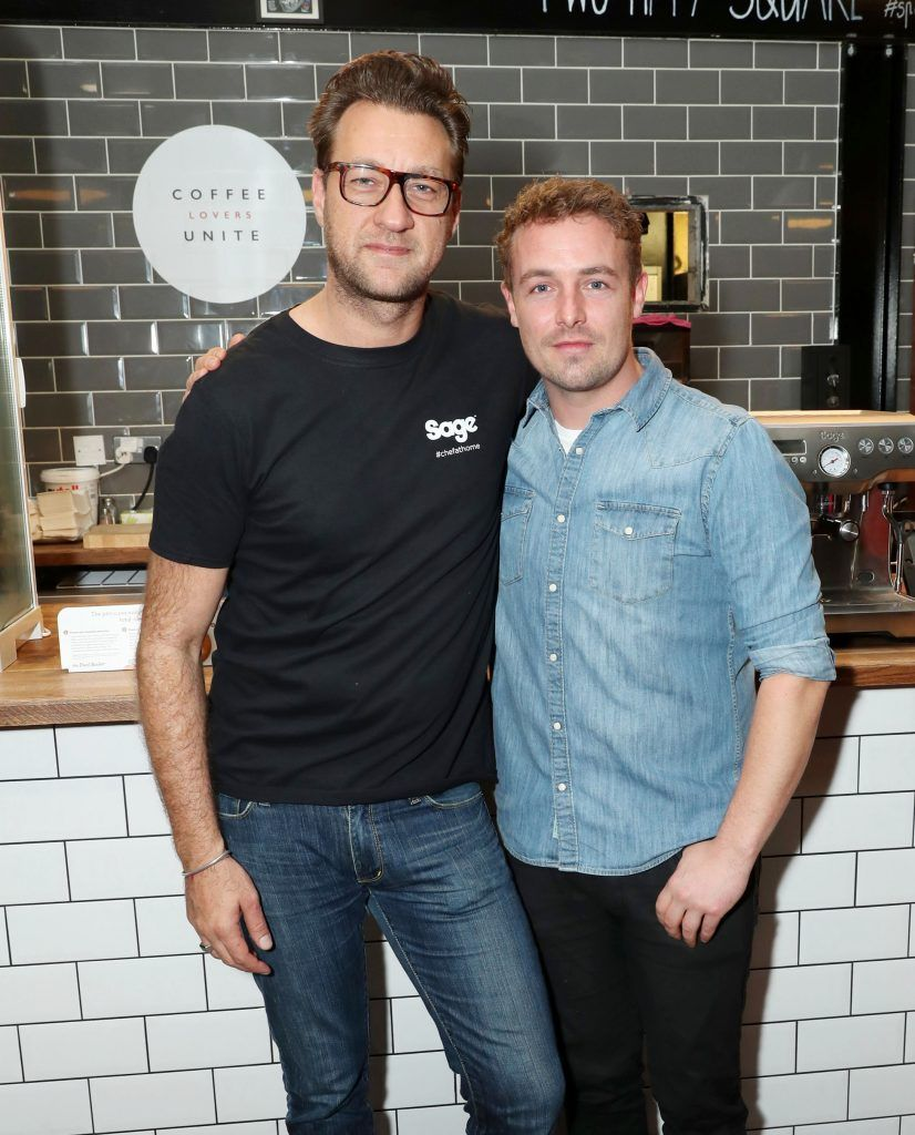Federico Riezzo and Adam McMenamin pictured at the official Sage Appliances Launch Event in Ireland which took place in Two Fitfty Square, Rathmines (4th October 2017). Pic: Marc O'Sullivan