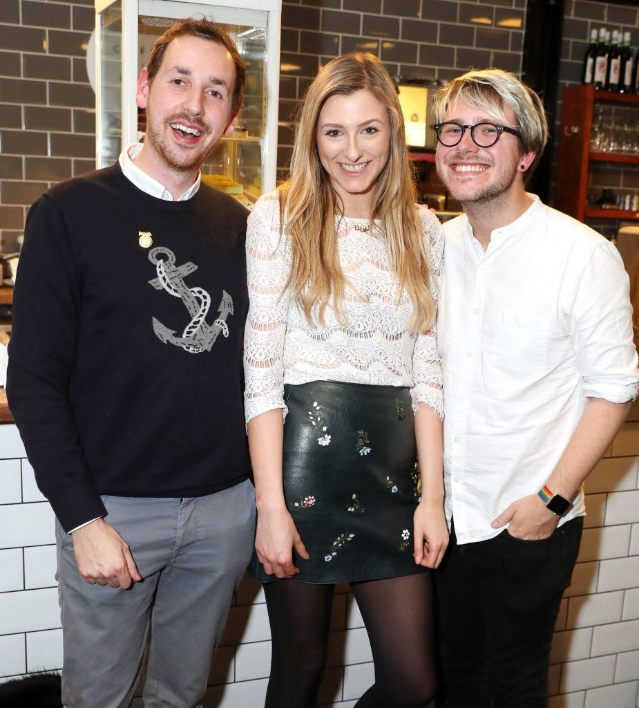 Patrick Hanlon Darina Coffey and Russell Alford pictured at the official Sage Appliances Launch Event in Ireland which took place in Two Fitfty Square, Rathmines (4th October 2017). Pic: Marc O'Sullivan