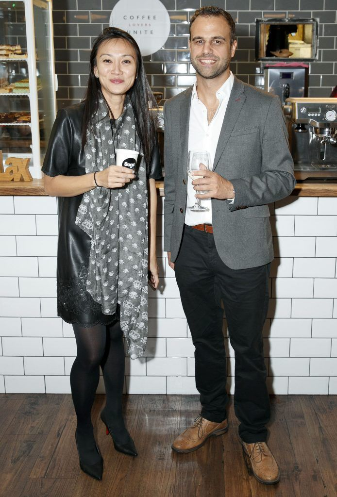 Shuhui Lim and Mark Adams pictured at the official Sage Appliances Launch Event in Ireland which took place in Two Fitfty Square, Rathmines (4th October 2017). Pic: Marc O'Sullivan