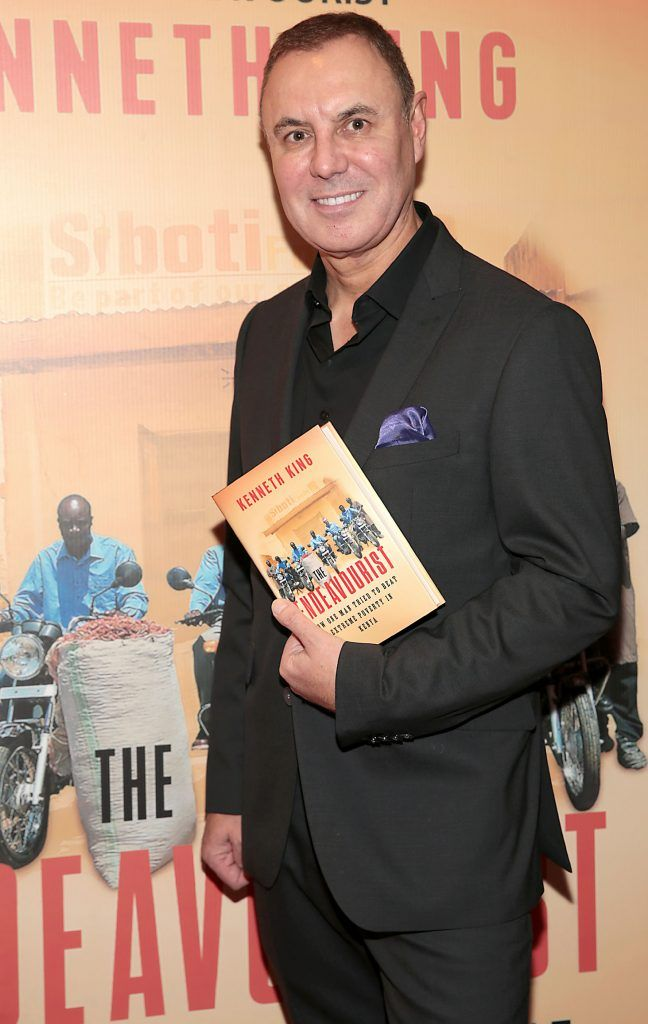 Kenneth King at the launch of his book The Endeavourist at Lillies Bordello, Dublin. Pic: Brian McEvoy