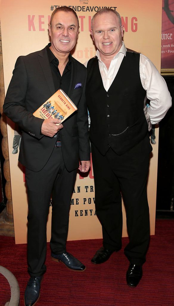 Kenneth King and Jason O Callaghan at the launch of Kenneth King's book The Endeavourist at Lillies Bordello, Dublin. Pic: Brian McEvoy