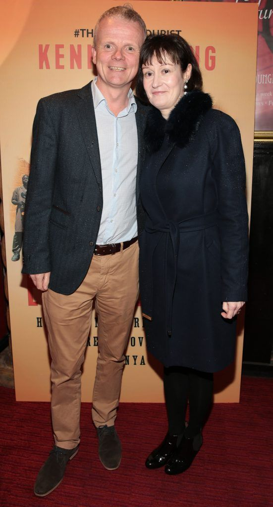 Tim Fogarty and Nessa O Brien at the launch of Kenneth King's book The Endeavourist at Lillies Bordello, Dublin. Pic: Brian McEvoy