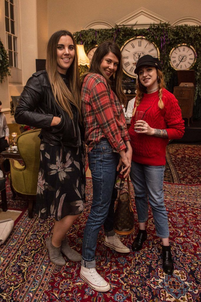 Sarah Hanrahan, Sophie DeVere & Leanne Woodfull at the exclusive launch of Hendrick's 'The Illustrious Manor of Eminence' at Tailor's Hall, Back Lane, Dublin 8. Photo: RuthlessImagery