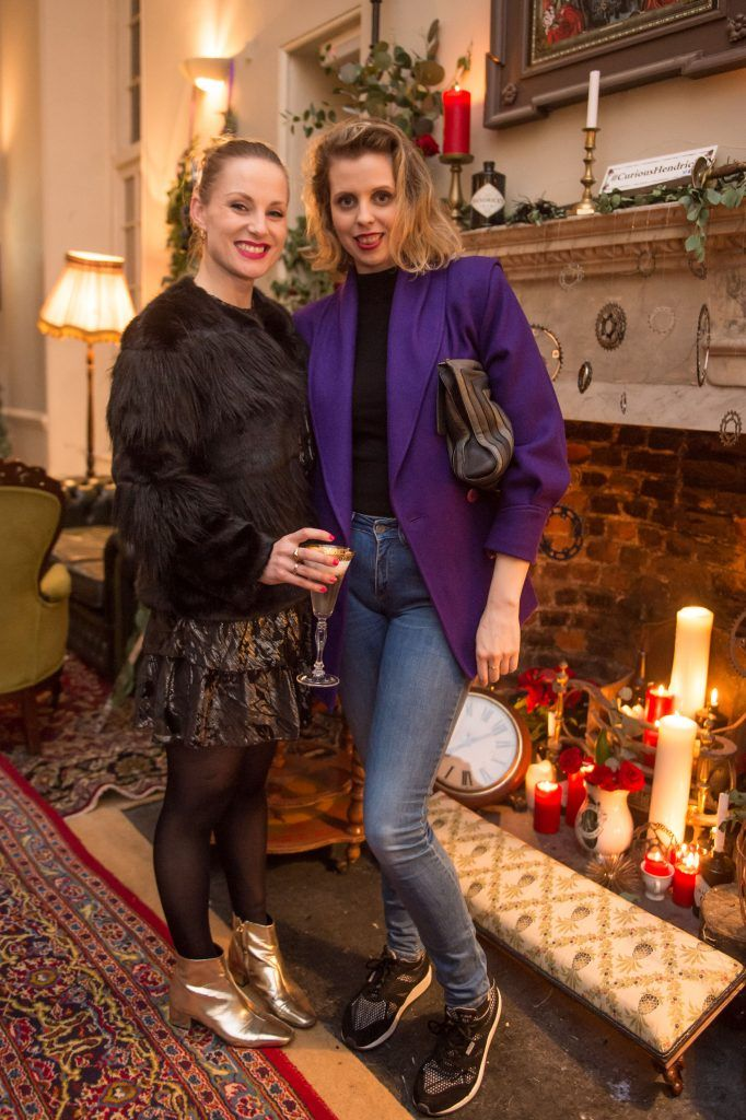 Julie Blakeney & Celina Murphy at the exclusive launch of Hendrick's 'The Illustrious Manor of Eminence' at Tailor's Hall, Back Lane, Dublin 8. Photo: RuthlessImagery