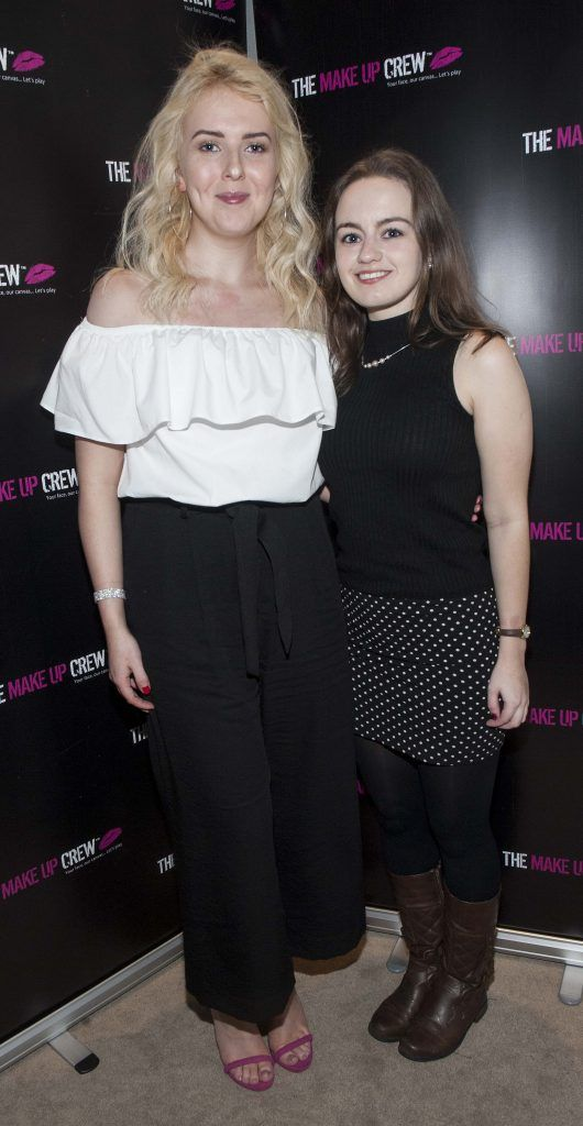 Gela Peggs and Amy McCann pictured at The Make Up Crew graduation ceremony at The Morgan Hotel, Fleet Street. Photo: Patrick O'Leary