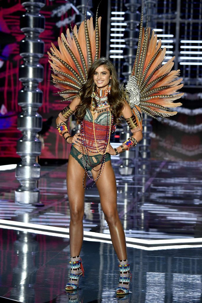 f424d0b887 Taylor Hill walks the runway during the 2017 Victoria s Secret Fashion Show  In Shanghai at Mercedes