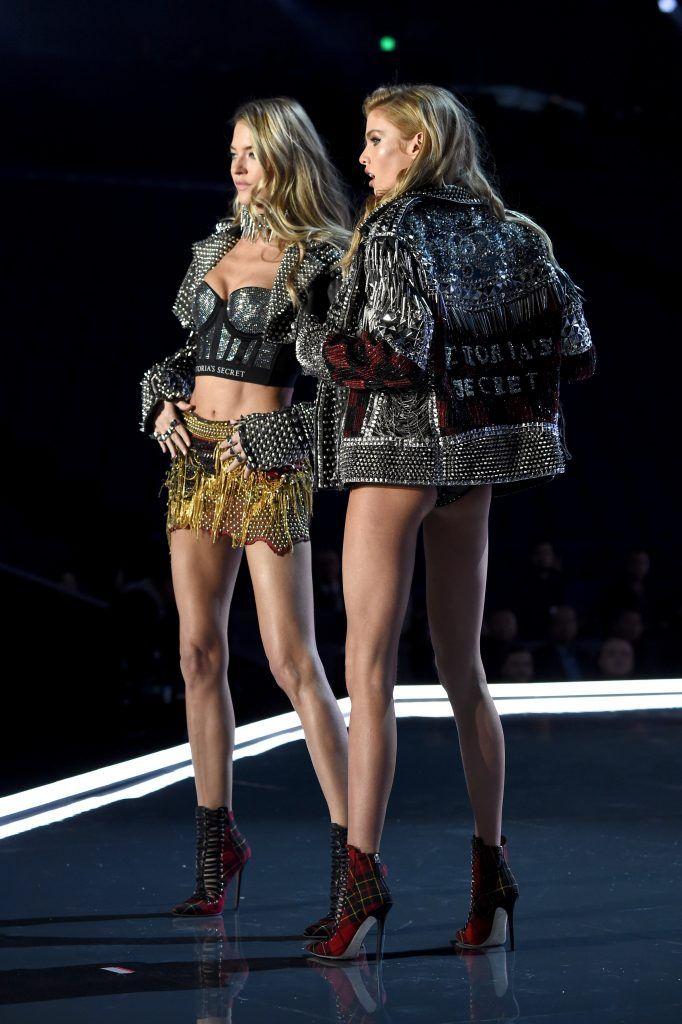 448232ac6e Martha Hunt and Stella Maxwell during the 2017 Victoria s Secret Fashion  Show on November 20