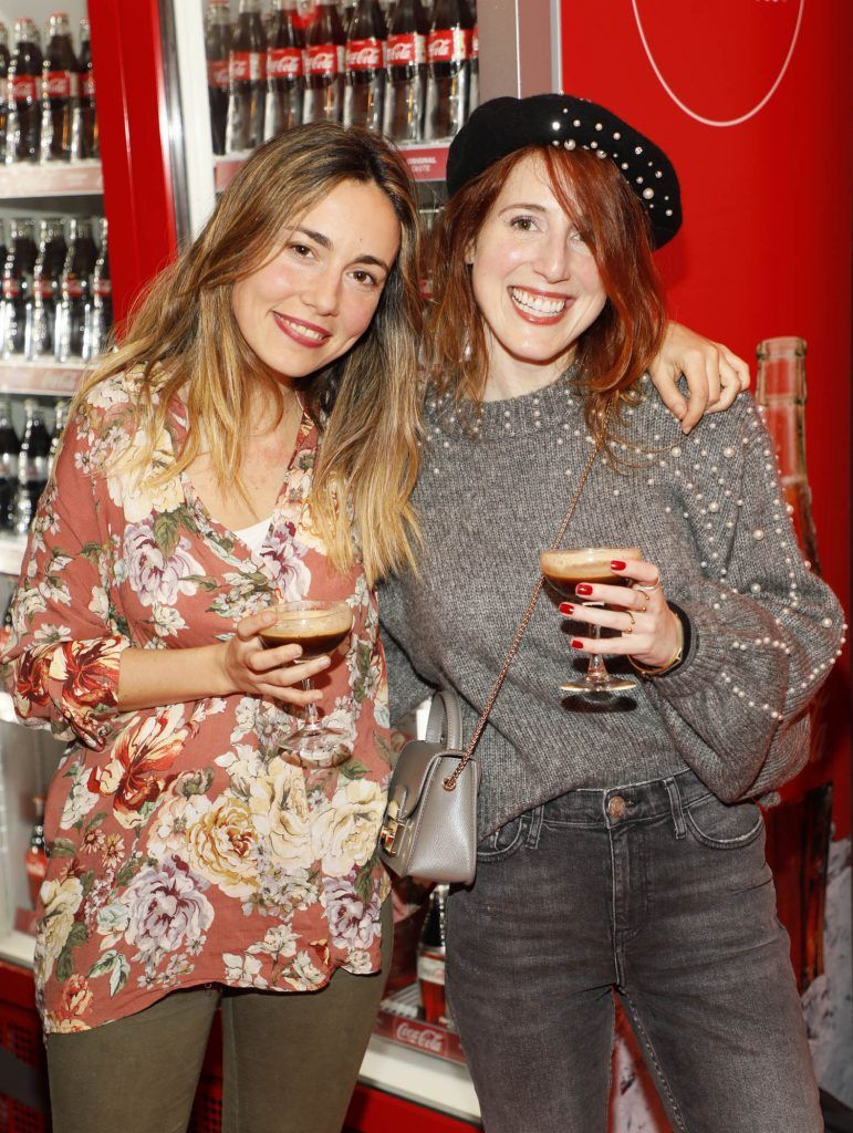 Joana Leite and Ana Cancho at Coca-Cola's #wrappedwithlove pop-up shop launch on 6th December 2017 at 57 South William Street, Dublin 2-photo Kieran Harnett