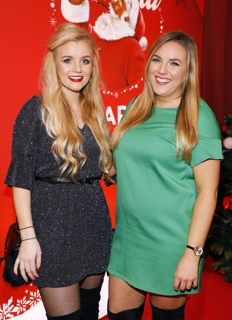 Lorna Jane Campbell and Megan Kessie at Coca-Cola's #wrappedwithlove pop-up shop launch on 6th December 2017 at 57 South William Street, Dublin 2-photo Kieran Harnett