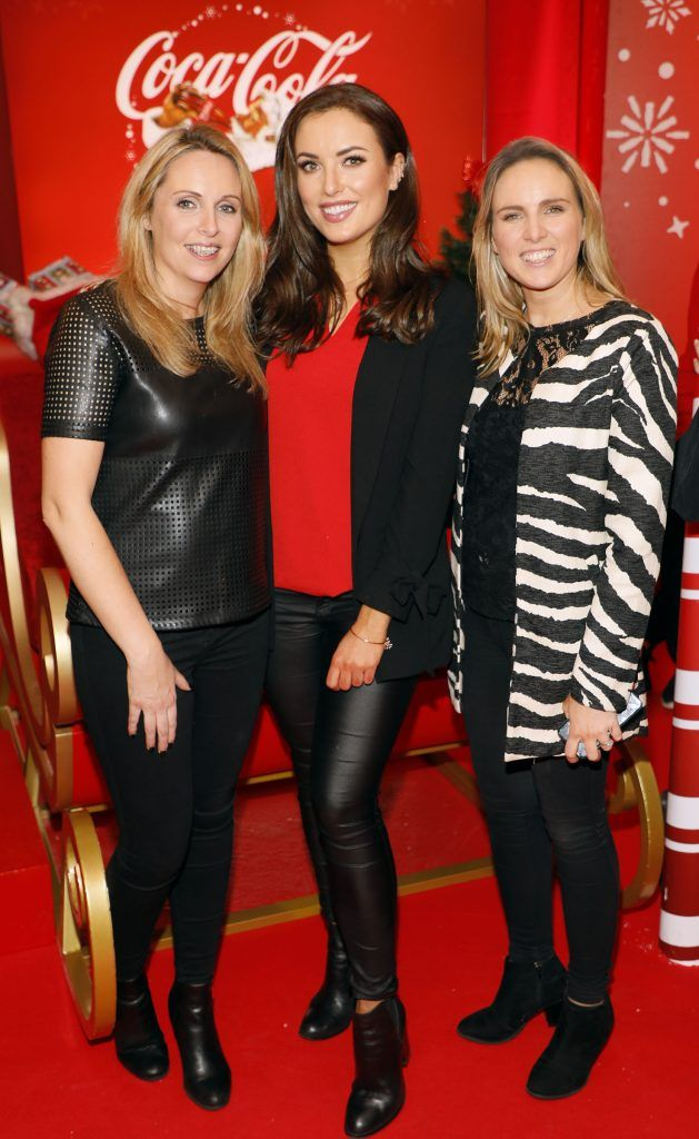 Rachel Long, Holly Carpenter and Georgina Kendrick at Coca-Cola's #wrappedwithlove pop-up shop launch on 6th December 2017 at 57 South William Street, Dublin 2-photo Kieran Harnett