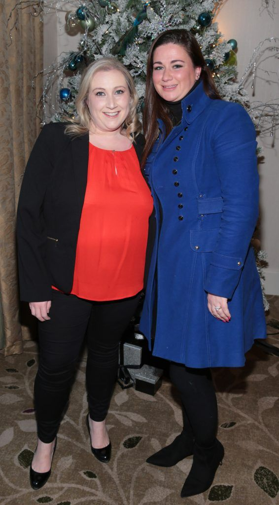 Julie Keating and Samantha Smith at the World Vision Women mean Business event at the Intercontinental Hotel in Ballsbridge, Dublin. Picture: Brian McEvoy
