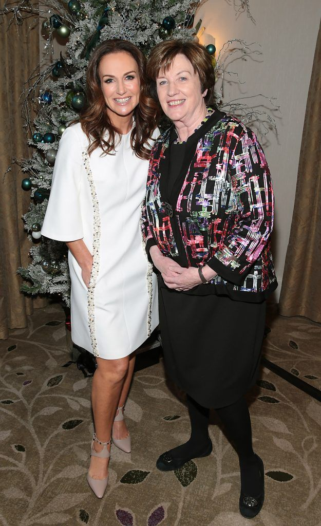 Lorraine Keane and Helen Keogh at the World Vision Women mean Business event at the Intercontinental Hotel in Ballsbridge, Dublin. Picture: Brian McEvoy