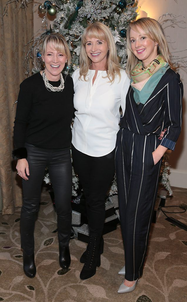 Lorraine Cahill, Lorraine Foy and Aine Reidy at the World Vision Women mean Business event at the Intercontinental Hotel in Ballsbridge, Dublin. Picture: Brian McEvoy