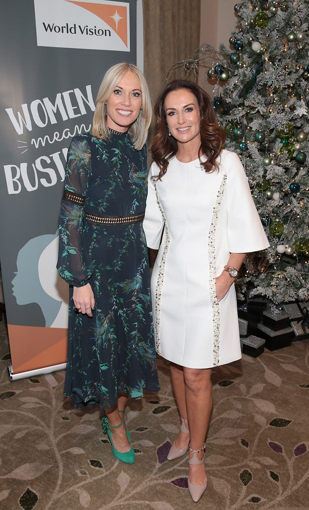 Mary Green and Lorraine Keane at the World Vision Women mean Business event at the Intercontinental Hotel in Ballsbridge, Dublin. Picture: Brian McEvoy