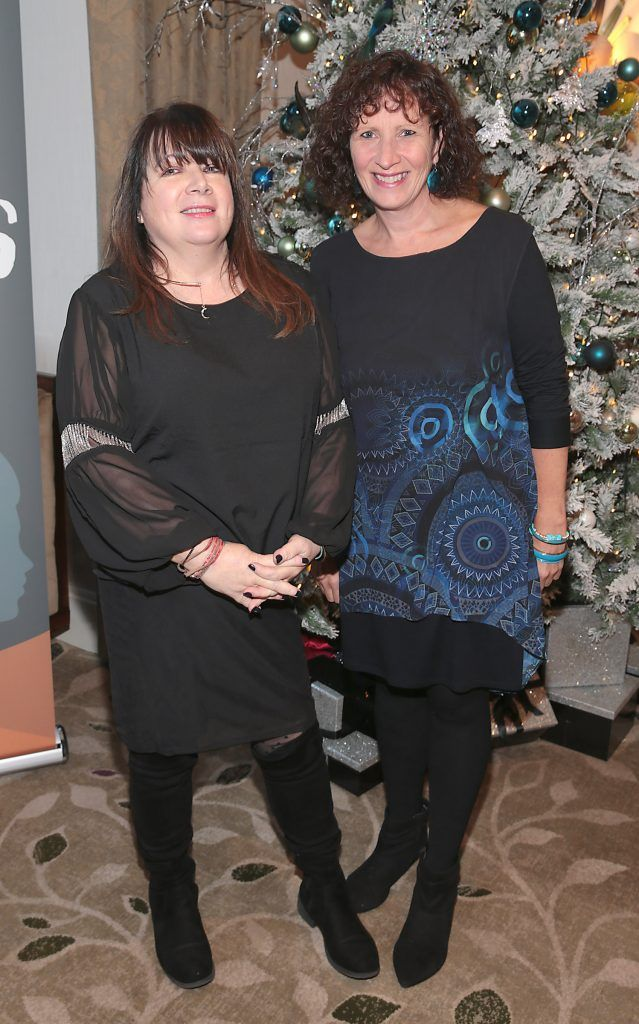 Adrianne Davitt and Dr Erika Keane at the World Vision Women mean Business event at the Intercontinental Hotel in Ballsbridge, Dublin. Picture: Brian McEvoy