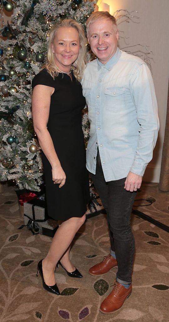 Eva Orsmond  and Paul McKeon at the World Vision Women mean Business event at the Intercontinental Hotel in Ballsbridge, Dublin. Picture: Brian McEvoy